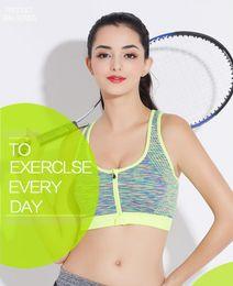 53e98162ab2ac DD+Mode Fitness Yoga Push Up Sport Bra pour les femmes Gym Running  rembourré Débardeur Athletic Gilet Sous-vêtements antichoc Strappy Sport