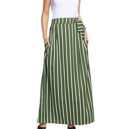 Vestido largo de rayas verticales online-Vestido largo casual con rayas verticales a rayas de cintura alta Boho para el verano TY66