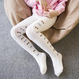 Pantyhose carino ragazze online-Cute Mini Bow Bambini Cotton Tights per ragazze Lovely Children Girl Tight with Bow Bambini Stocking Pantyhose Girls Underwear Clothing