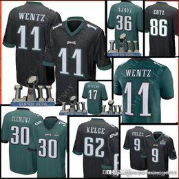 8929ee58bf0 Philadelphia Eagles 30 Corey Clement 11 Carson Wentz 86 Zach Ertz 62 Jason  Kelce Jersey Men 36 Jay Ajayi Jerseys philadelphia eagles jerseys deals