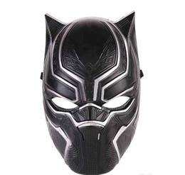 blocs d'activité Promotion Avenger Black Panther Visage Masque Réaliste Homme Latex Party Masque De Noël PVC Cosplay Costume Adultes Mascarade De Noël Film Fantastique