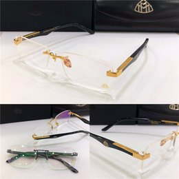 2020 montures pour verres correcteurs prescription de la marque de mode eyeglasses L'ARTISTE Je cadre sans monture grandes jambes verres optiques de style business simple lentille claire pour les hommes montures pour verres correcteurs pas cher
