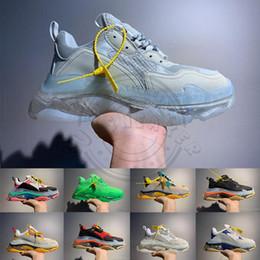 Scarpa casuale mens zip online-Con fascetta di moda 2020 di Parigi 17FW Triple s Sneakers delle donne degli uomini Verde Nero Bianco Casual papà scarpe da donna Scarpe di lusso Aumentare
