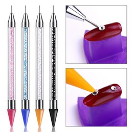 Stylo à ongles double pointillé pour perle de cristal poignée strass goujons sélecteur cire crayon manucure paillettes poudre ongles ? partir de fabricateur