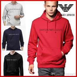 Большие свитера падения онлайн-Мужские 2019 осень / зима мужские большой SUP логотип напечатанный свитер молодежи с капюшоном мужчин