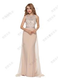 вечерние платья высокие женщины Скидка 2019 new sexy elegant luxury vintage women smooth O-neck  thin and tall night show wedding party long dress wholesale
