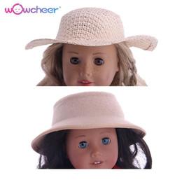 2019 vestidos de barbie WOWCHEER 18 Polegada Bonecas Americanas Acessórios Moda New Woven Chapéus Outfit Brinquedos Fit 43 CM Baby Dolls Para Meninas Presentes de Aniversário