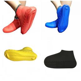 Ботинки для обуви онлайн-Силиконовые водонепроницаемые бахилы подходят дождливый сезон нескользящей непромокаемой обуви чехлы на открытом воздухе бахилы Mulit Color 7 5pd E1