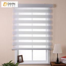 2019 cortinas zebra para janelas Chegada Nova Luxo Camada de Alta Qualidade Duplo Estores zebra rolo envio janela cega Cortinas gratuito cortinas zebra para janelas barato