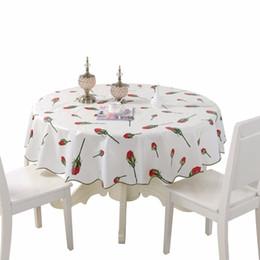 2019 toalhas de mesa florais Pastoral Pvc À Prova D 'Água Redonda Pano De Mesa Tamanho 150/180 cm Manta Floral Engrossar Decoração de Casa Toalha De Mesa Toalha De Tapetes T8190620 toalhas de mesa florais barato