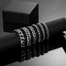 2019 disegni catena in oro nero 6 disegni Bracciali a catena cubana femminile con bracciale in acciaio inossidabile per gioielli hip-hop Bracciale uomo bracciali Dropshipping