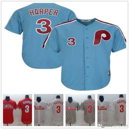 3c65a5dbc Discount bryce harper blue jersey - 2019 New Phillies Jersey Bryce Harper  white Red Grey baseball