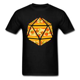 Canada Pizza Rouleau T-shirt D20 Tops Hommes Dice Imprimé Tshirts 3D Jeu Vêtements Géométrique Dessin Animé Tees Noir T-shirt Geek Chic cheap pizza clothes Offre