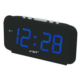 Assista Home Decor com Snooze Despertador Moderno Grandes Números Display Luminoso Relógios de Mesa Digital Led Alarm Clock Eletrônico supplier led table large de Fornecedores de mesa led grande