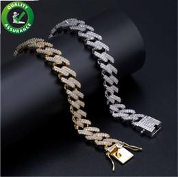 Miami cuban gold fill en Ligne-Mens bracelets en or Designer de luxe bijoux femmes Bracelet glacé Out Miami Chaîne cubaine Lien Chaîne Pandora Style Charmes Bracelet Amour Micro Pavé CZ