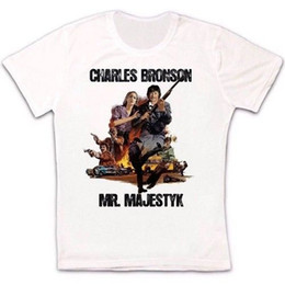 red printers Promo Codes - Charles Bronson Mr. Majestyk Printer 70s Thriller Film Retro Unisex T Shirt Size Discout Hot New Tshirt Denim Clothes Camiseta T Shirt