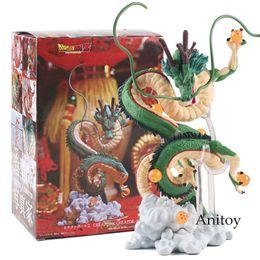 führte kunststoffwaren Rabatt Japan Anime Dragon Ball Z Figur Shenron Winding Dragon Action Figure PVC Spielzeug Geschenk 14,5 ~ 15,5 cm