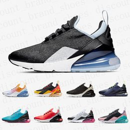 Sapatas florais dos homens on-line-Nike air max 270 shoes Regency Purple Men women running shoes Triple Black white Tiger olive Training Outdoor Sports Mens Trainers Zapatos Sneakers