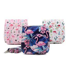 2019 cas pour fuji Nouveau Fuji Instax Mini 9 Mini 8 Sac pour appareil photo Flamingo PU Leather Instant Camera Accessoires Protector Cover Case Avec Sangle promotion cas pour fuji
