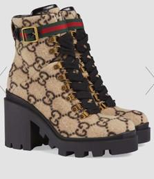 ΑΑΑ LuxuryLouisVuittonGucciStiefel für Damen aus Leder flache Gummisohle Stiefel hochwertige Schuhe Schnalle 0123 von Fabrikanten