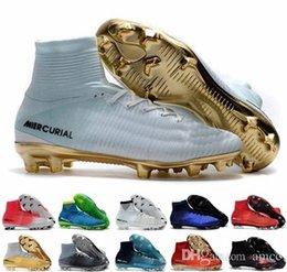 low priced 3ae55 3ad42 Botines de fútbol para hombre para hombre Mercurial CR7 Superfly V FG Botas  de fútbol para niños Magista Obra 2 Zapatos de fútbol para mujer Cristiano  ...
