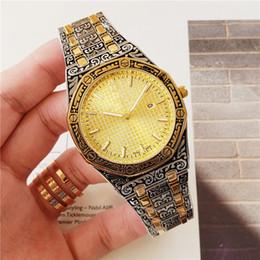 Мужские золотые кварцевые часы черный циферблат онлайн-Самые продаваемые роскошные часы Special Men 2019 черный циферблат из нержавеющей стали ремешок из нержавеющей стали золото автоматические кварцевые 15710ST мужские мужские часы часы