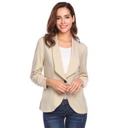 casacos para mulheres Desconto Mulheres Blazer Jaquetas E Casacos Slim Fit Mulheres Jaquetas Formais Trabalho de Escritório Entalhado Senhoras Casaco feminino abrigo mujer