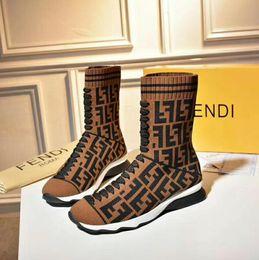 2019 Designer Sneakers Müßiggänger Schuhe Modemarke Männer Frauen Casual Sportschuhe Design Hohe Top FF Socke Schuhe 35-45 von Fabrikanten