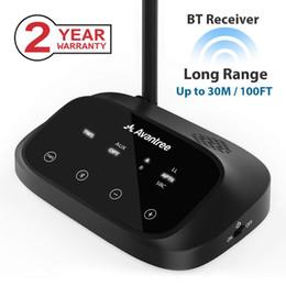 2019 lautsprecher optisch Vantree Long Range Bluetooth-Empfänger für optische 3,5-mm-Audio-Home-Stereo-Lautsprecher Voice LED-Anzeige Wireless-Empfänger Avant ... günstig lautsprecher optisch
