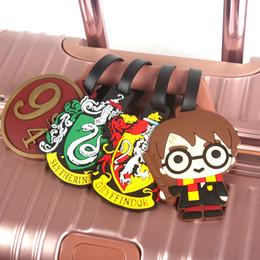 2019 catena di ottone pesante Fashion Harry Potter Tag Bagagli Gel di silice Valigia Id Addres Holder Baggage Boarding Etichette portatili Accessori da viaggio