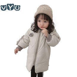 korean kids clothes down Coupons - 2018 Korean Style Fashion Kids Girls Down Coat Solid Color Long Sleeved Jacket Children Thicken Outwear Kids Clothes 1~Yrs