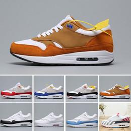 Nike Air Max 1 Anniversary Premium Sc Top Qaulity 87 1 Una mujer de los hombres de los zapatos corrientes Centro Pompidou diseñador zapatillas de