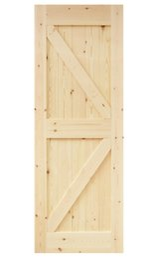 Madera sin terminar online-DIYHD 30X84in Ensamblado de madera nudosa de pino, la losa corrediza de la puerta de granero Panel de la puerta de granero en forma de flecha de dos lados (sin terminar)