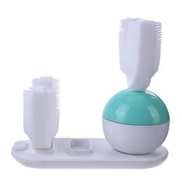 Spazzolino da denti elettrico a pulizia intelligente elettrico tipo U Spazzolino sbiancante per denti Spazzolino da denti per pulizia personale completamente elettrico da