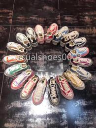 Scarpe di tela di velluto online-2019 designer di lusso amanti della piattaforma super hot tela scarpe da mendicante piattaforma alta scarpe di tela vulcanizzata vintage Scarpe di design in velluto
