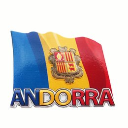 Souvenir europei online-Lychee Life Europe Andorra Flag Fridge Magnets 3D Frigorifero Magnetic Sticker Home Decoration Souvenir di viaggio