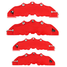 abs car brakes Coupons - 4Pcs ABS 3D Red Useful Car Disc Brake Caliper Covers Front Rear Auto Universal Brake System Kit Replacement Parts