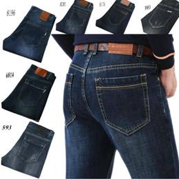 2019 jeans waschen stil BUR ** rry (6 style) LOCOR Four Seasons Herrenhose Stretch-Jeans Hose aus 100% Baumwolle, dunkle Hose, gerade gewaschen, Business Casual günstig jeans waschen stil