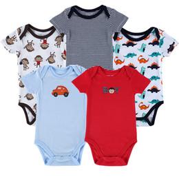 Vestiti del bambino 12 mesi ragazza online-Madre Nido 5 Pezzi / lottp Corpo Neonato Ragazzi Ragazze Infantil Menino Infantile Abbigliamento 0-12 Mesi Baby Romper Q190520