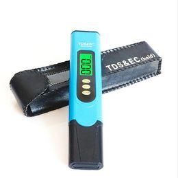 Tester di conducibilità online-100 pz Portable Digital TDS Meter EC Meter 0 ~ 9990ppm Conductivity Water Tester Acquario Piscina Test di Qualità Purezza Filtro Monitor Temp
