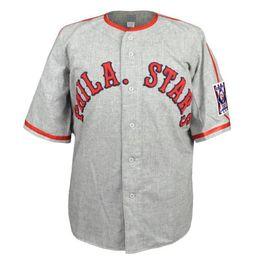 Logo de carreteras online-Philadelphia Stars 1939 Road Jersey 100% bordado Logotipos Vintage Jerseys de béisbol personalizados Cualquier nombre Cualquier número Envío gratis
