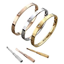 2019 di amore del braccialetto New Classic oro zircone per gli uomini e Womans Fashion San Valentino Matrimonio Matrimonio Amore Designer di gioielli per le donne da