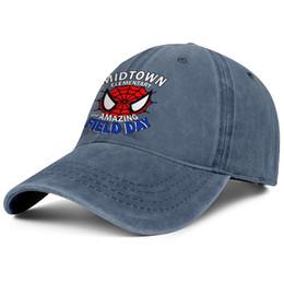 Field Day T-Shirt Designs Field Day Spiderman Blau Womens Mens Denim Hüte Waschen Mens Summer Cap Stile entwerfen Sie Ihre eigenen Sommer Youth Dad Kappe von Fabrikanten