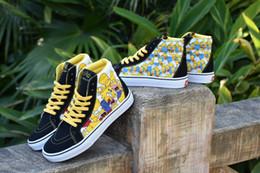 d180c542a88d1c 2019 VANS Old Skool Cartoon Comic Simpson Men Women Skateboard Shoes half  cab Sports Skate Women Canvas Designer Shoe Brand Sneaker 36-44