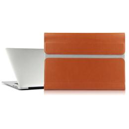 Funda de cuero para computadora online-Funda para Huawei matebookx MateBook X 13 pulgadas portátiles de bolsillo bolsa de cuero del archivo de paquete Funda ordenador portátil cubre el caso