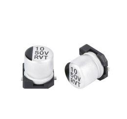Kondensatoren widerstand online-Elektrolytkondensator mit hohem Widerstand und niedrigem Widerstand 10uf / 50v Elektrolytkondensator mit großer Kapazität 6,3 * 5,4 mm Kondensator