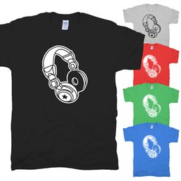 Сексуальные клубные рубашки бесплатная доставка онлайн-Kopfhörer силуэт наушники DJ Elektro Party дискотека Sexy Club футболка S-XXL смешные бесплатная доставка мужская повседневная футболка топ