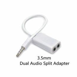 2019 медиапроигрыватель mp4 Двойной аудио линия гарнитура 3.5 мм разъем для наушников Splitter 1 в 2 пары любителей адаптер для iPhone MP3 MP4 портативный медиа-плеер дешево медиапроигрыватель mp4