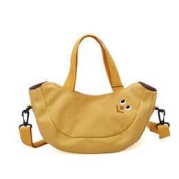 tela di mele Sconti Borsa a tracolla carina Cartoon Fruit Banana Apple ricamato tela signore Crossbody Messenger Borse donna Mini borsa della borsa