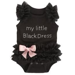 Argentina Niño recién nacido Babys Niñas Ropa Body Verano Sin mangas Vestido negro de encaje Tul Mono Trajes Ropa de niña cheap black tutu dress toddler Suministro